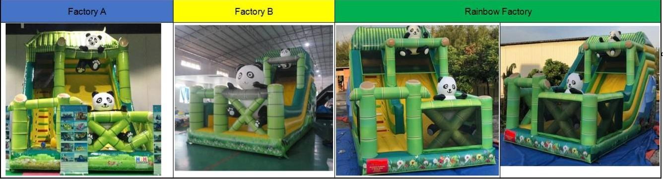 panda inflatables slide