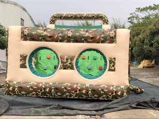 New Design Outdoor Inflatable Camouflage Theme Obstacle Course for Kids And Adults