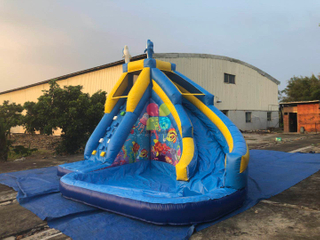 China inflatable water slides manufacturers, commercial