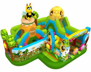 New Design of Bee Inflatable Obstacle Playground 3D Insect Digital Printing Fun Park