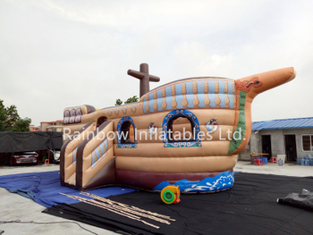 RB11017(9x5m) Inflatable New Design Pirate Boat for Kids