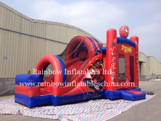 High Quality Commercial Inflatable Spiderman Combo Bouncer for Sale