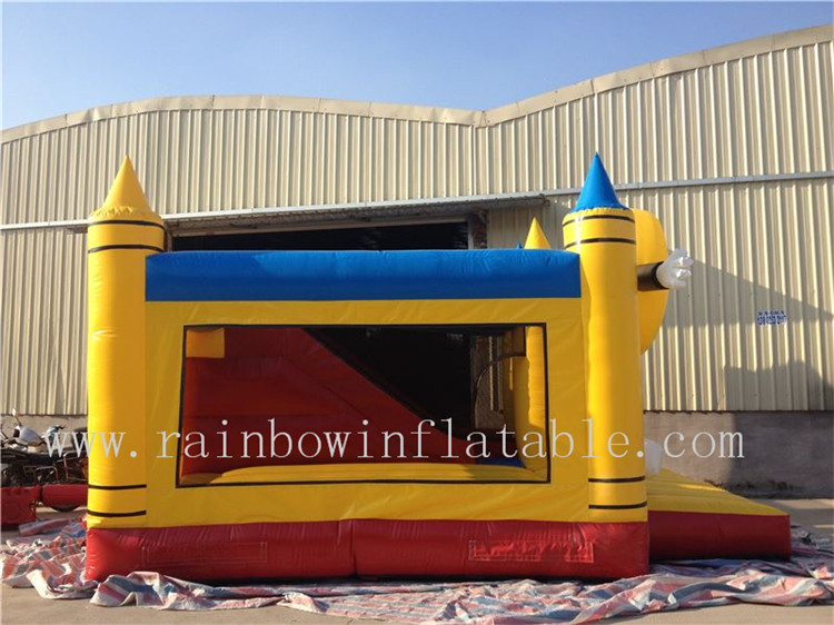 Outside Commerical Inflatable Pencial Theme Combo with Slide