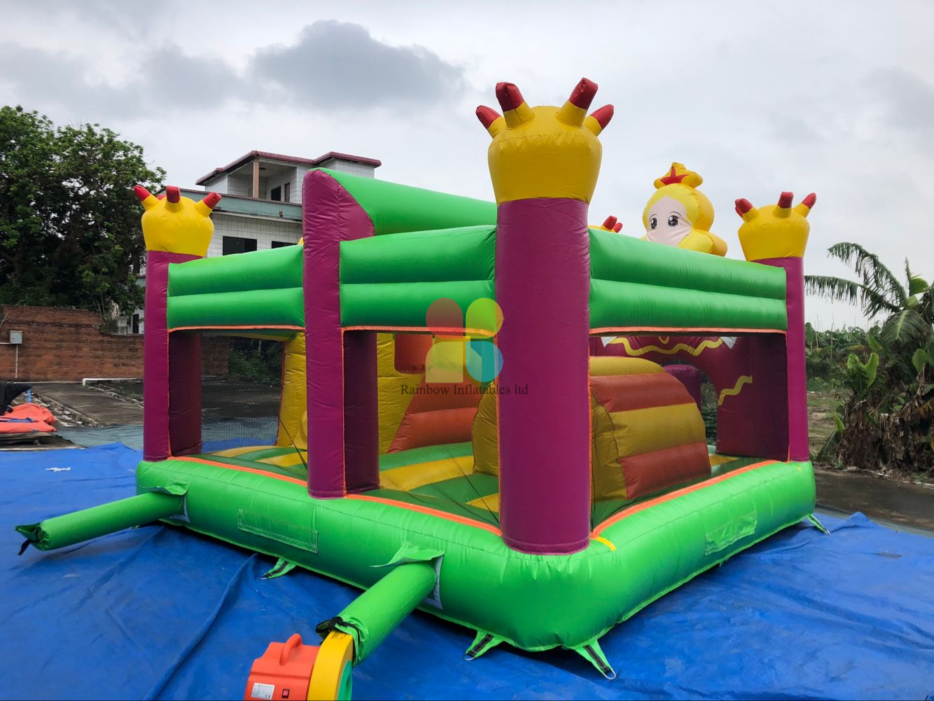 Inflatable Princess Bounce & Slide Combo