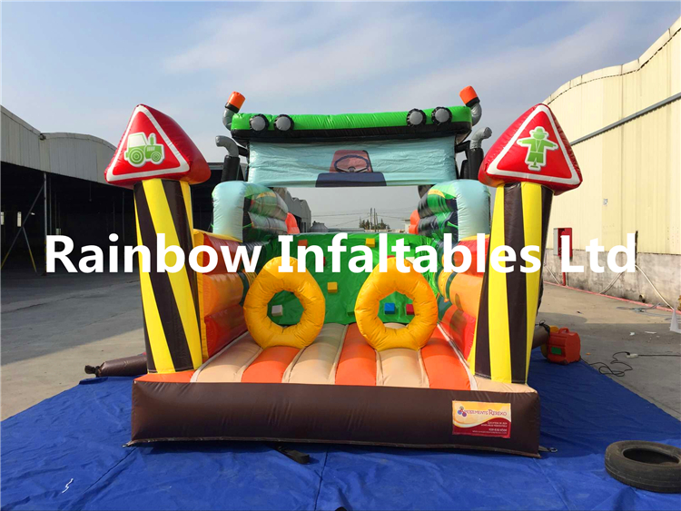 Big Commercial Truck Shape Inflatable Playground for Toddlers