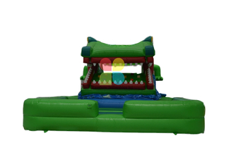 Inflatable Crocodile Moving Mouth Slide for Outdoor And Indoor