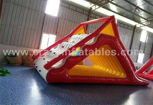 Hot Outdoor Commercial Inflatable Triangle Water Climbing Wall Floating Wall for Sale