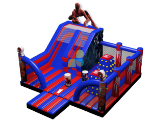New Design Of spiderman Playground, Most Popular Spiderman Fun Park, Best Selling Inflatable Spiderman Funcity