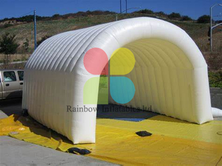 Rainbow Inflatable Tunnel Stage Cover Full Branded Building Tunnel with Net