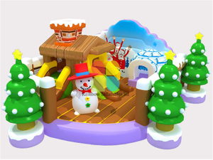 RB04010(6x8m)Inflatable Wondeful snow snow mini park sliding funcity inflatable jumping animal