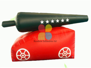 Mini Funny Outdoor Game Inflatable Paintball Bunkers on Sale