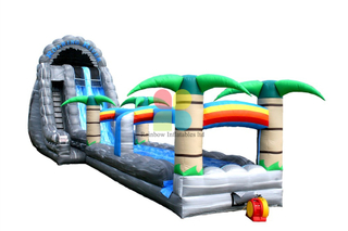 Giant Tropical Tsunami Water Slide N Slip with Giant Pool palm tree water slide