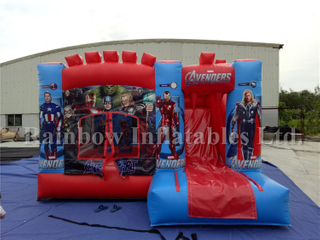 Commercial Inflatable Avengers Theme Jumping Castle for Kids