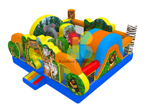 New design Animal Inflatable safari Fun park
