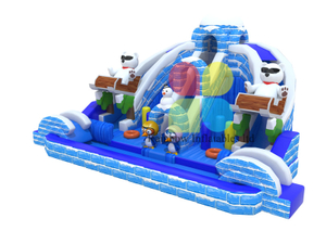 New Design Ice world penguin white bear inflatable Bouncer Funcity playground