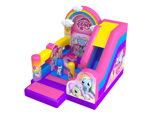 Colorful Pony Bounce and Slide Combo Bouncy Castle