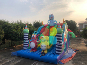 Customized Inflatable Monster jumping Dry Slide
