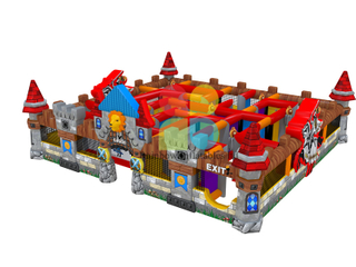 Outdoor inflatable Castle Maze Playground