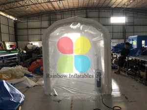 Inflatable Disinfection Channel with Sprayer Machine