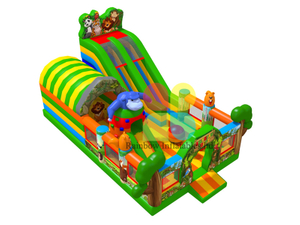 Customized Animal Inflatable zoo Playground Fun park