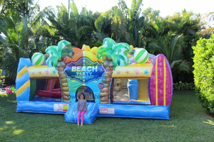 Toddler Surfs Up Beach Party Inflatable Bouncy House Funcity