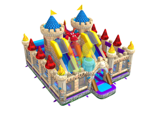 Inflatable Jumping Castle Double slide Funcity
