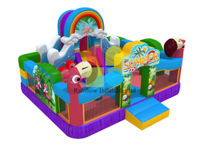 Happy Animal Inflatable Parrot Playground Fun park