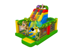 inflatable animal slide with bouncerplayground inflatable animal kingdom slide