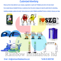 Inflatable products and customized advertizing material
