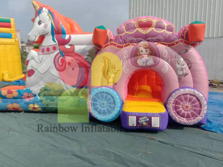 nimal Inflatable Unicorn Bouncer with Slide For Kids
