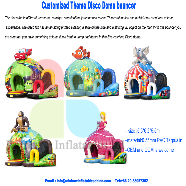 inflatable Disco dome with jump, dance, music and cool lights