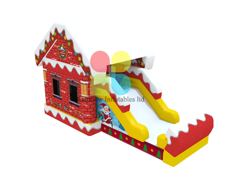 7.2X3.5X4.5M infaltable bouncer house with slide for Christmas party rental