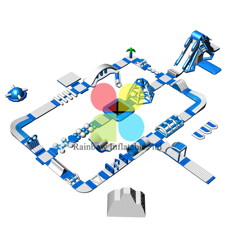 Commercial Floating Inflatable Water Park with Slide for Sea and Lake