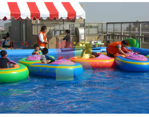 Remove Control Colorful water bumper boat for kids play