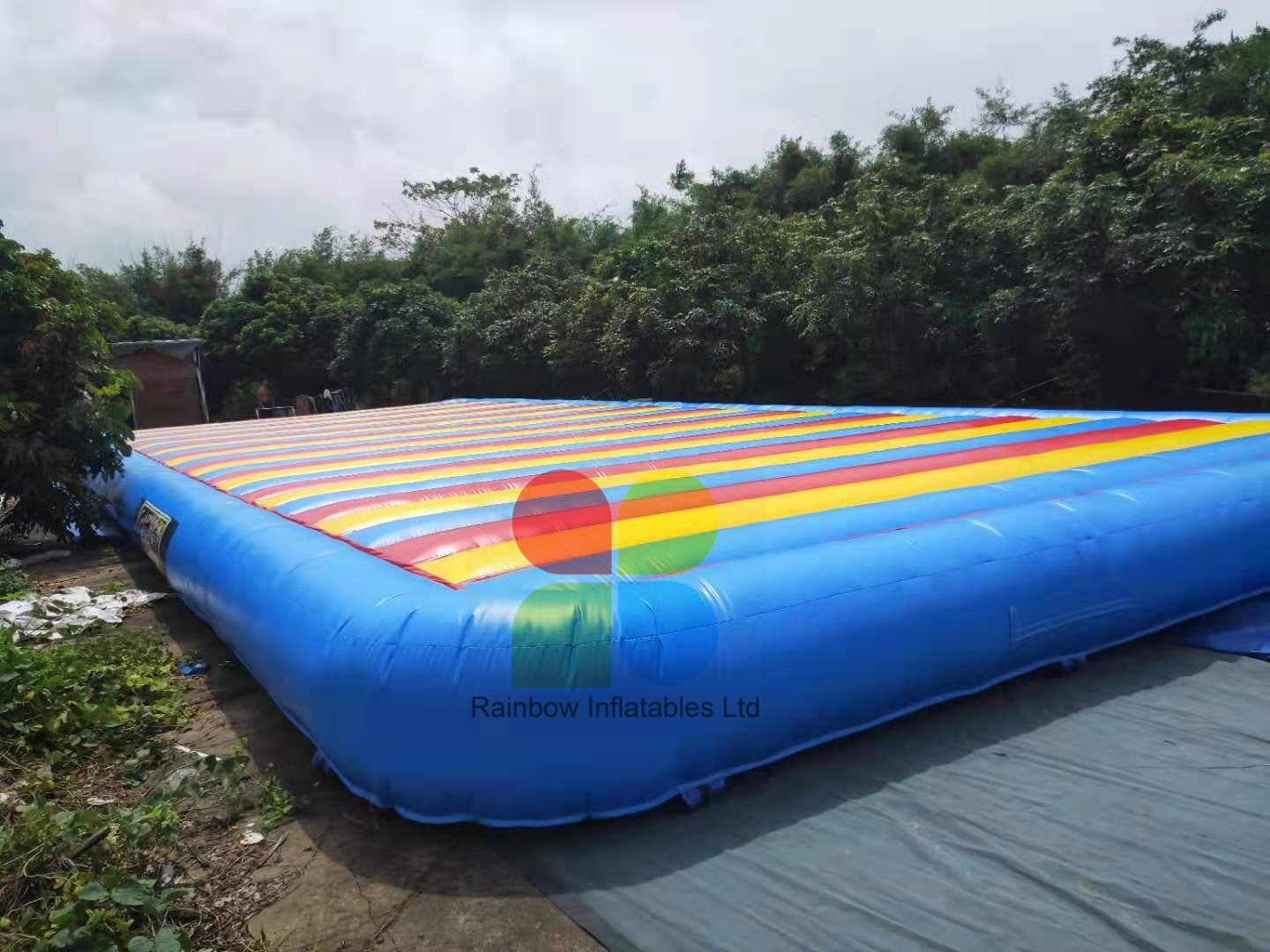 Rainbow Colorful inflatable jumping pad Bounce Pillow