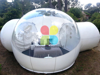Inflatable bubble tent for resort, 4m outdoor camping inflatable bubble tent