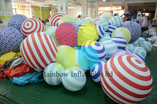 Colorful Inflatable Beach Ball for Decoration /Ocean ball for Decoration with Blower